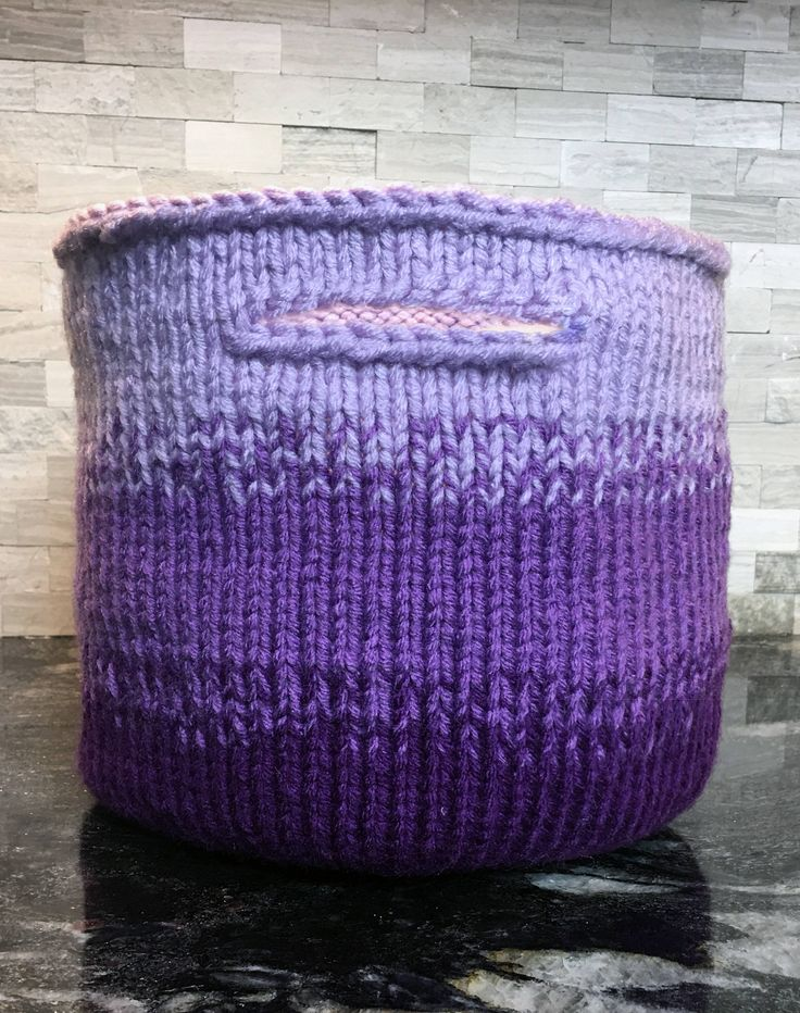 Knitting Basket With Handles : Best home decor knitting patterns images on pinterest