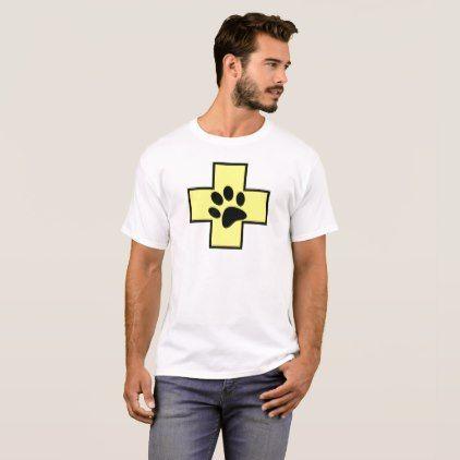 animal help cross veterinary symbol sign doctor pe T-Shirt - animal gift ideas animals and pets diy customize