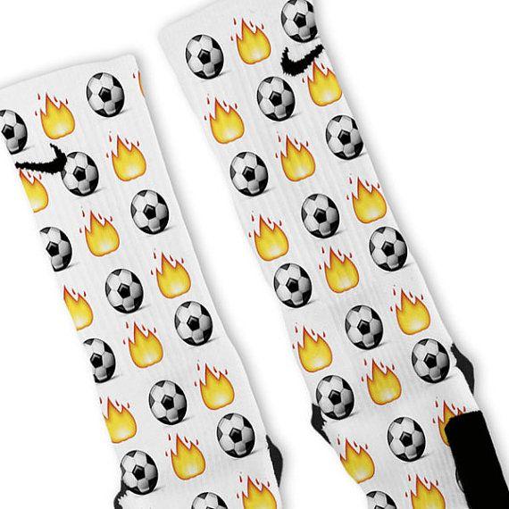 Custom Soccer Emoji Nike Elites Socks by GalaxyElites on Etsy