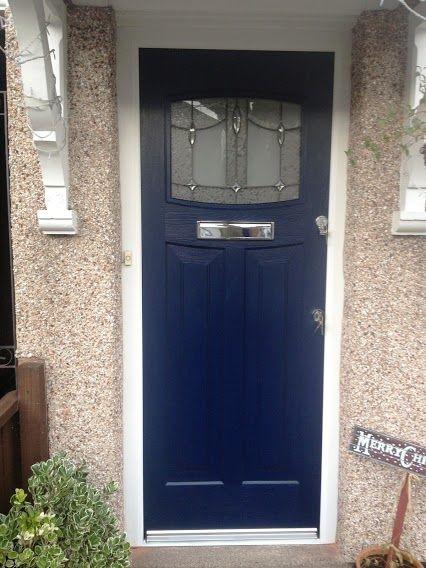 Blue 1930's composite door