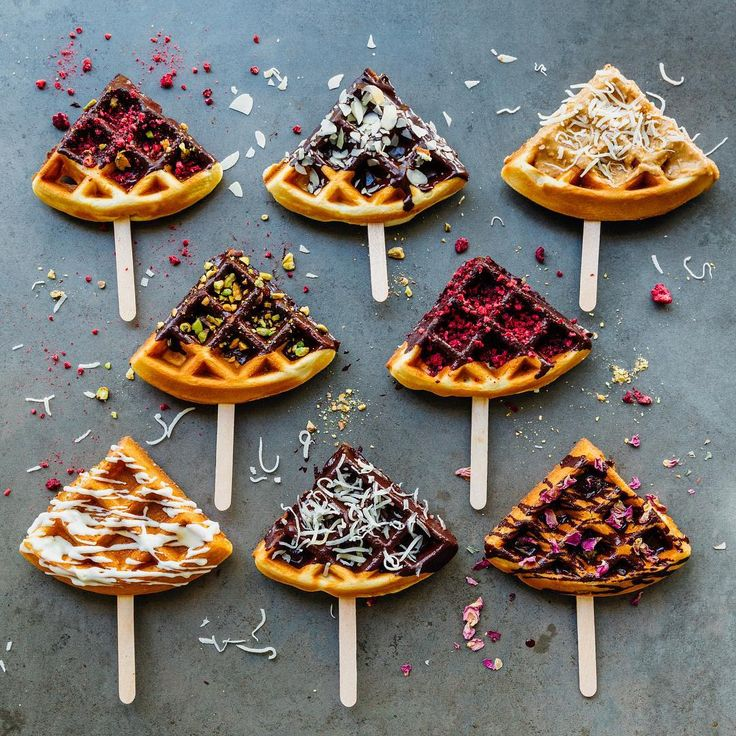 "Madeline Lu on Instagram: ""Breakfast or snack? Here come waffle pops! ✌️😜✌️"""