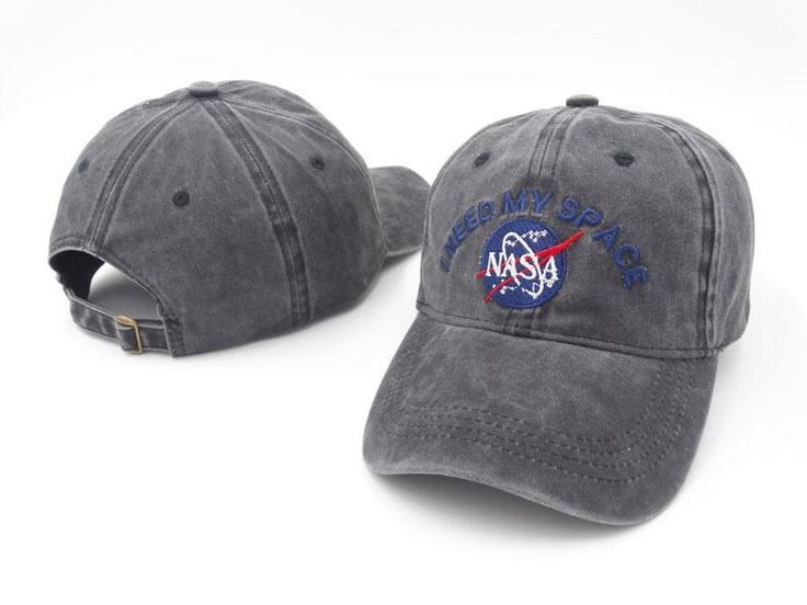 Men's / Women's Kennedy Space Center I Need My Space NASA Meatball Curved Strap Back Hat - Grey