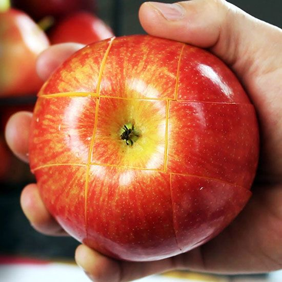 how to cut a apple for school hacks