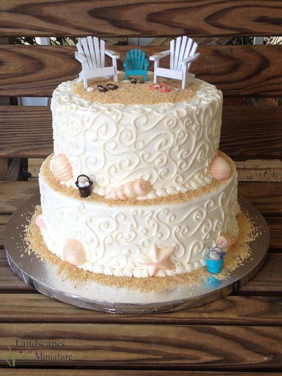 BLENDED FAMILY Beach Theme Wedding Cake Topper