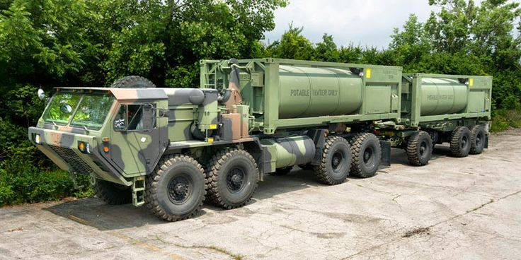 The HIPPO water system in service with the US Army has been produced by WEW in partnership with MilMar of the US. It uses the HEMTT-LHS for load handling.