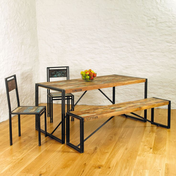 Best 25 Industrial Dining Benches Ideas On Pinterest