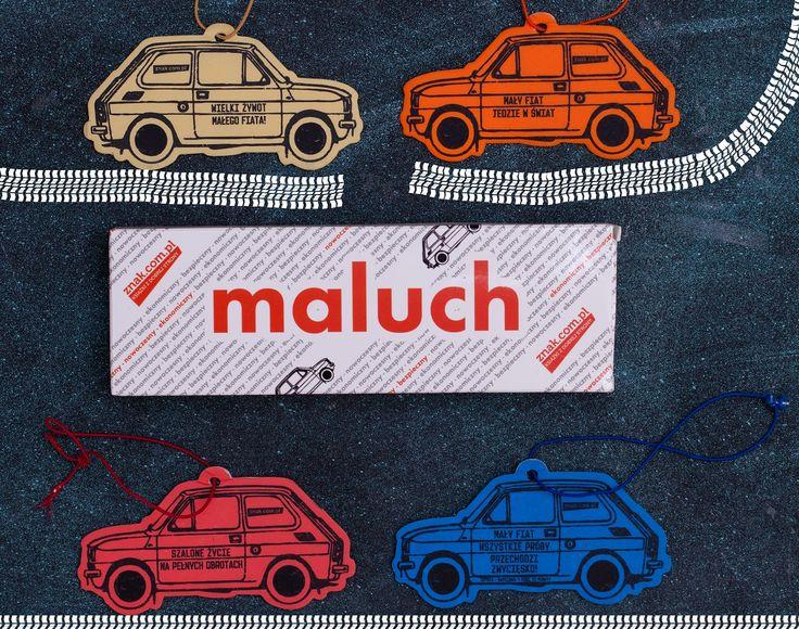"""""""Maluch"""" - kolekcjonerskie zawieszki zapachowe. #Maluch #PrzemyslawSemczuk #zawieszka #fiat126p #auto #motoryzacja #gadzet"""