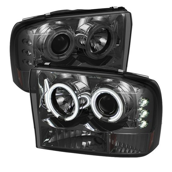 Ford Excursion  2000-2005 1pc Ccfl LED Projector Headlights  - Smoke