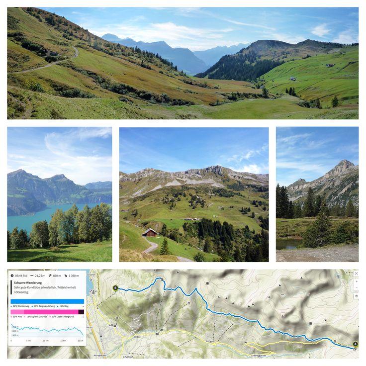 Schächentaler Höhenweg vom Klausenpass bis Eggberge (6 h 30 min)