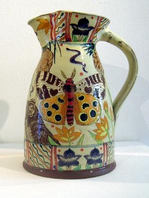 Maureen Minchin #pottery #pitcher #moth