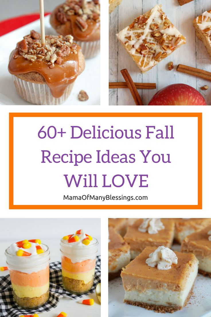 60+ Simple and Delicious Fall Recipe ideas You are sure to LOVE!!!