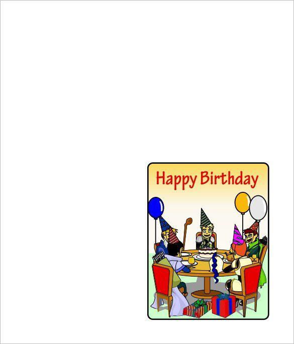 Folded Birthday Card Template Unique 6 Quarter Fold Card Templates Psd Doc Birthday Card Template Free Greeting Card Templates Greeting Card Template