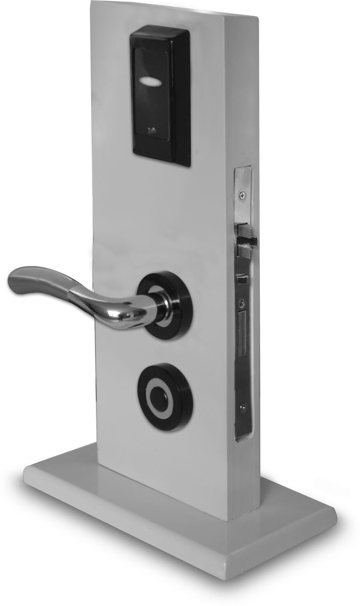 Electronic Rfid Card Hotel Office Lock Euro Norm Mortise
