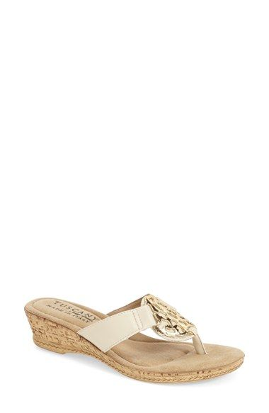 TUSCANY by Easy Street® 'Rossano' Wedge Flip Flop Sandal (Women) available at #Nordstrom