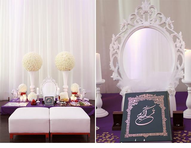 Purple & White