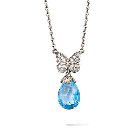 Baile de Mariposas pendant Discover Baile de Mariposas Collection @Manfredi Jewels   Pendant in white gold, blue topaz and diamonds  Natural, delicate, romantic and supremely graceful. The pure shape and beauty of butterflies becomes a magical dance of femininity .  More > http://manfredijewels.com/