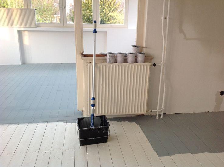 Houten vloer schilderen welke verf geschilderde houten vloeren plankenland - Idee vloer ...