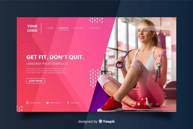 Download Get Fit Gym Promotion Landing Page For Free Fitness Websites Landing Page Get Fit
