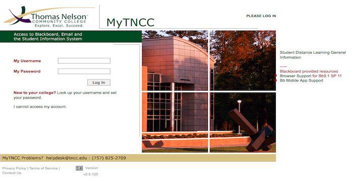 tncc blackboard student login