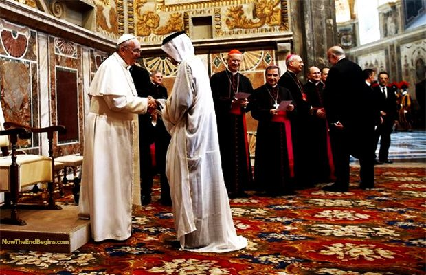 HISTORIC FIRST EVER ISLAMIC PRAYERS AT VATICAN SIGNALS START OF ONE WORLD RELIGION   World Truth.TV