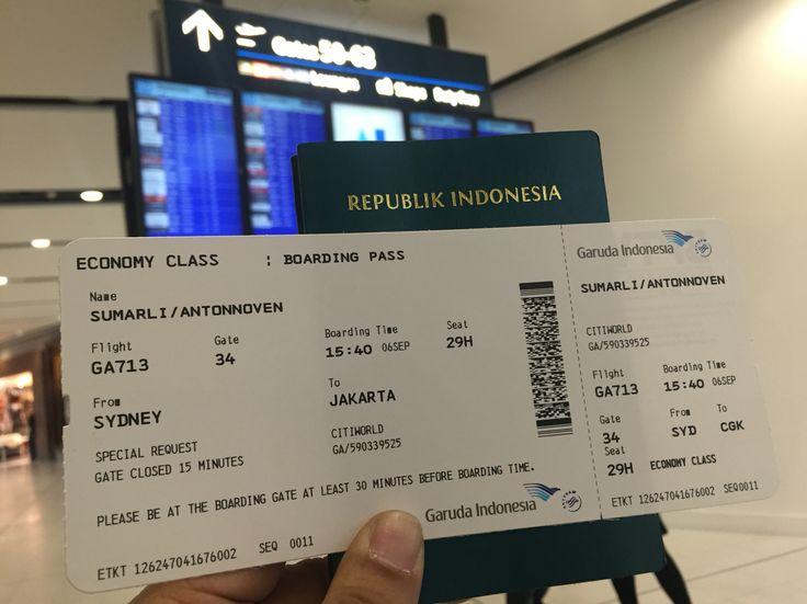 Sydney - Jakarta  GA 713 / 6 SEP 2015