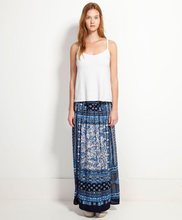 Φούστα με μοτίβα μαντιλιού - Φούστες.