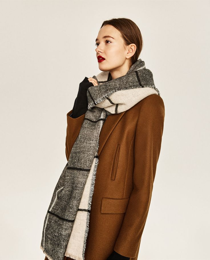 DOUBLE-FACED CHECKED SCARF-ACCESSORIES-WOMAN   ZARA United States