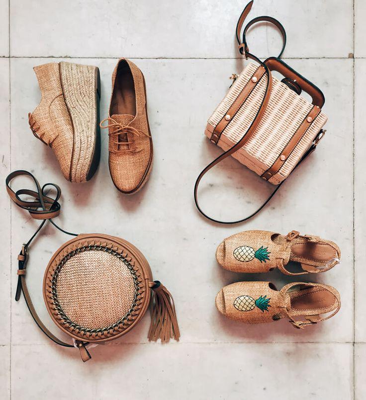 Acessórios de verão Renner! bolsa de palha estruturada e sandália de abacaxi! summer accessories <3