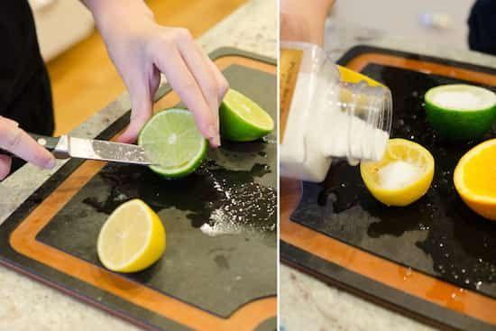 sel dans citron pour désodoriser maison