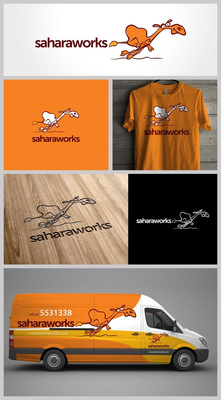 SaharaWorks, Logo, Stationery, Website