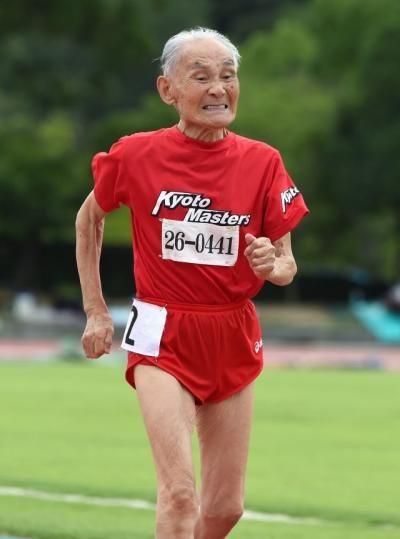 103-year-old Japanese sprinter Hidekichi Miyazaki challenges world's fastest man Usain Bolt to race