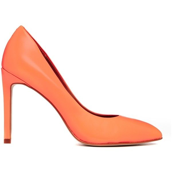 ALDO Edilania Orange Pointed Court Shoes (305 BRL) ❤ liked on Polyvore featuring shoes, pumps, heels, high heels, high heel shoes, pointy high heel pumps, pointed toe high heel pumps, pointy-toe pumps and high heeled footwear