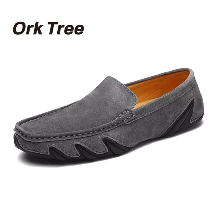 Luxe Mode Hommes cuir Mocassins Chaussures confortables Chaussures Flat Casual Male solides Souliers formels mocassin pour NgTCD9