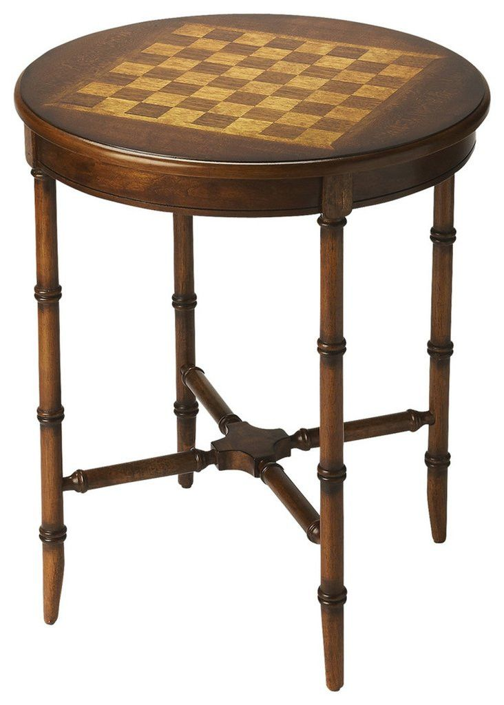 Butler Furniture Somerset Olive Ash Burl Plantation Cherry Game Table 1138101