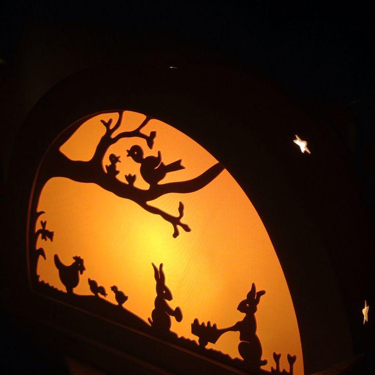 DeNoest Easter Silhouette Lamp