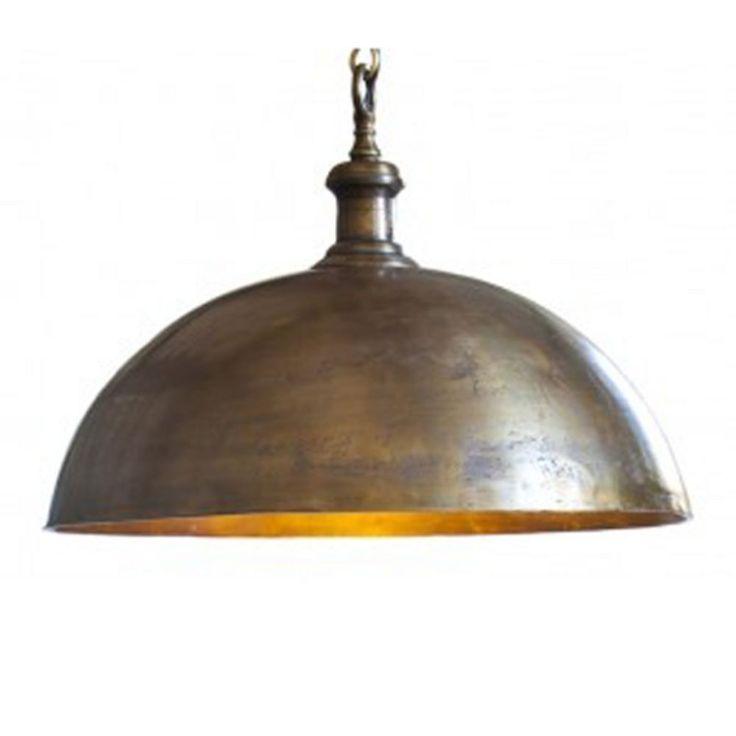 Lovely Antique Brass Large Pendant. Light And LivingBrass ...
