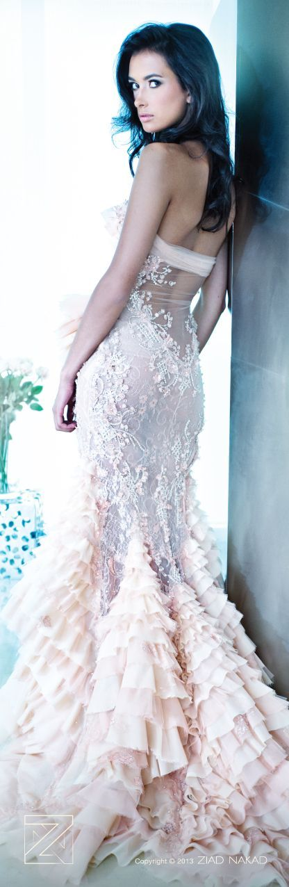 Ziad Nakad gown with a beautiful sheer back