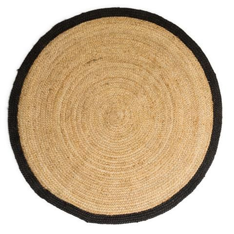 Jute Rug with Black Border, Small