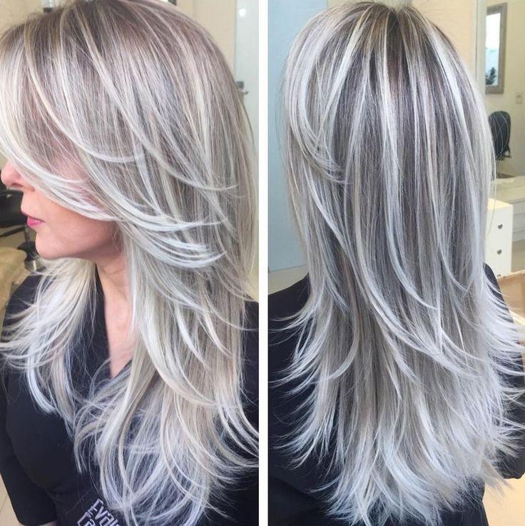 nice Пепельный цвет волос (50 фото) - все оттенки и особенности искусственной седины