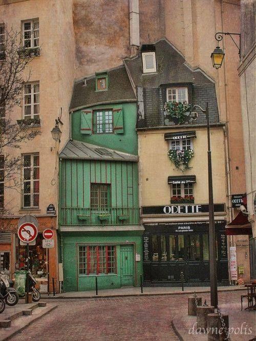 Rue Galande, Paris 5ème. Patisserie, réputée, Odette.