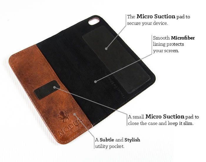 The Access Case - Slim Leather Micro Suction- iPhone/S4/iPad by Nodus - Jack Spencer & Alex Boswell — Kickstarter