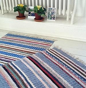 The Northern House | Unique Swedish rag rugs 'trasmatta'