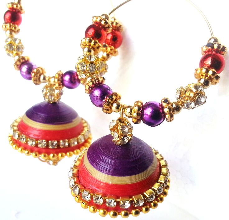 Red & Purple jhumka for every occassion