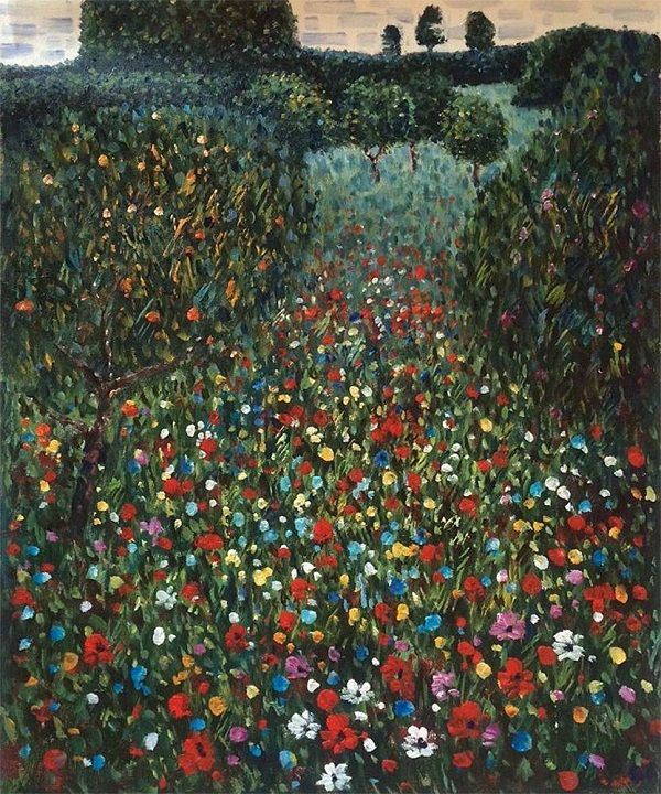 © Gustav Klimt - Field of poppies (1907)