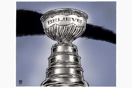 Toronto Star editorial cartoon for May 2, 2013, by Theo Moudakis. #MapleLeafs #NHL #StanleyCup #hockey