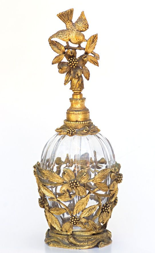 Antique perfume bottle. Matson, Ormolu and crystal? Image: How to Collect Antique Perfume Bottles, eBay guide.