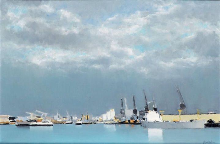 Port du Havre par Pierre Doutreleau