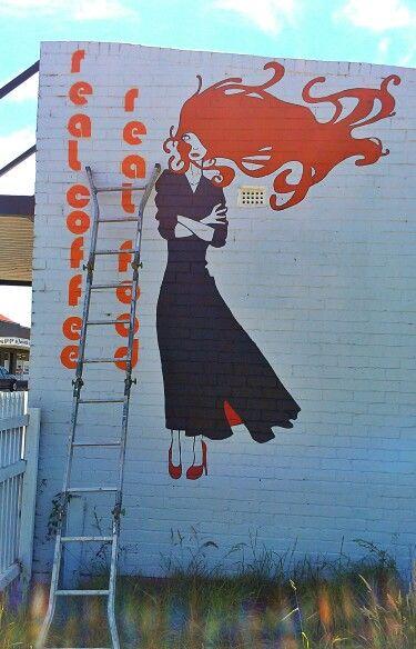 Cheeky little place mural, new norfolk, tasmania.
