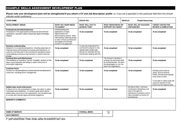 Doc17541241 Example of a Personal Development Plan Sample – Example of a Personal Development Plan Sample