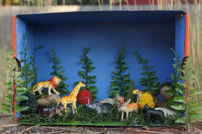 Kids Diorama With Details: How To Make A Shoebox Diorama: 28 Ideas